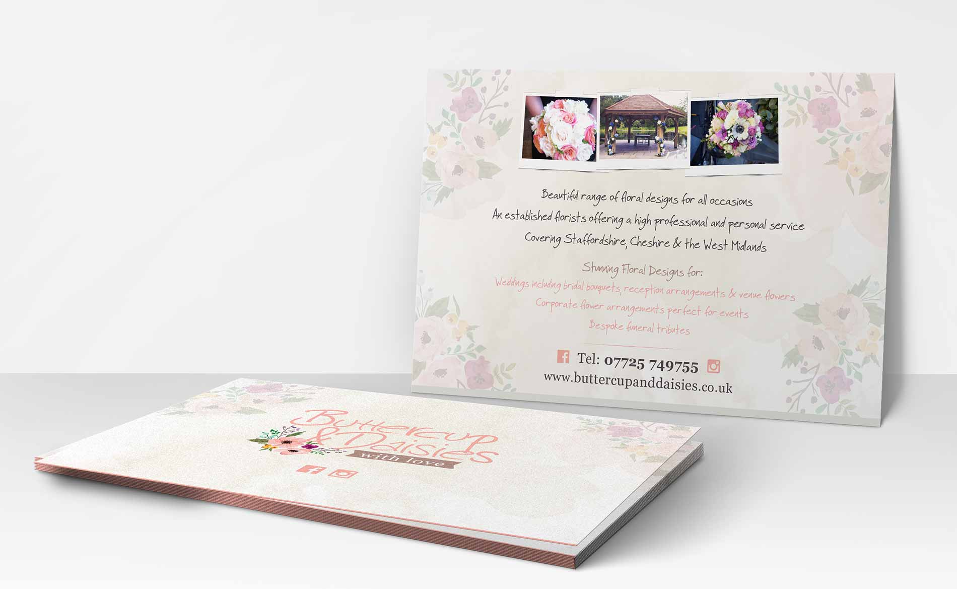 Digital Print, Buttercup & Daisies with Love, Postcards, Stoke-on-Trent, Staffordshire