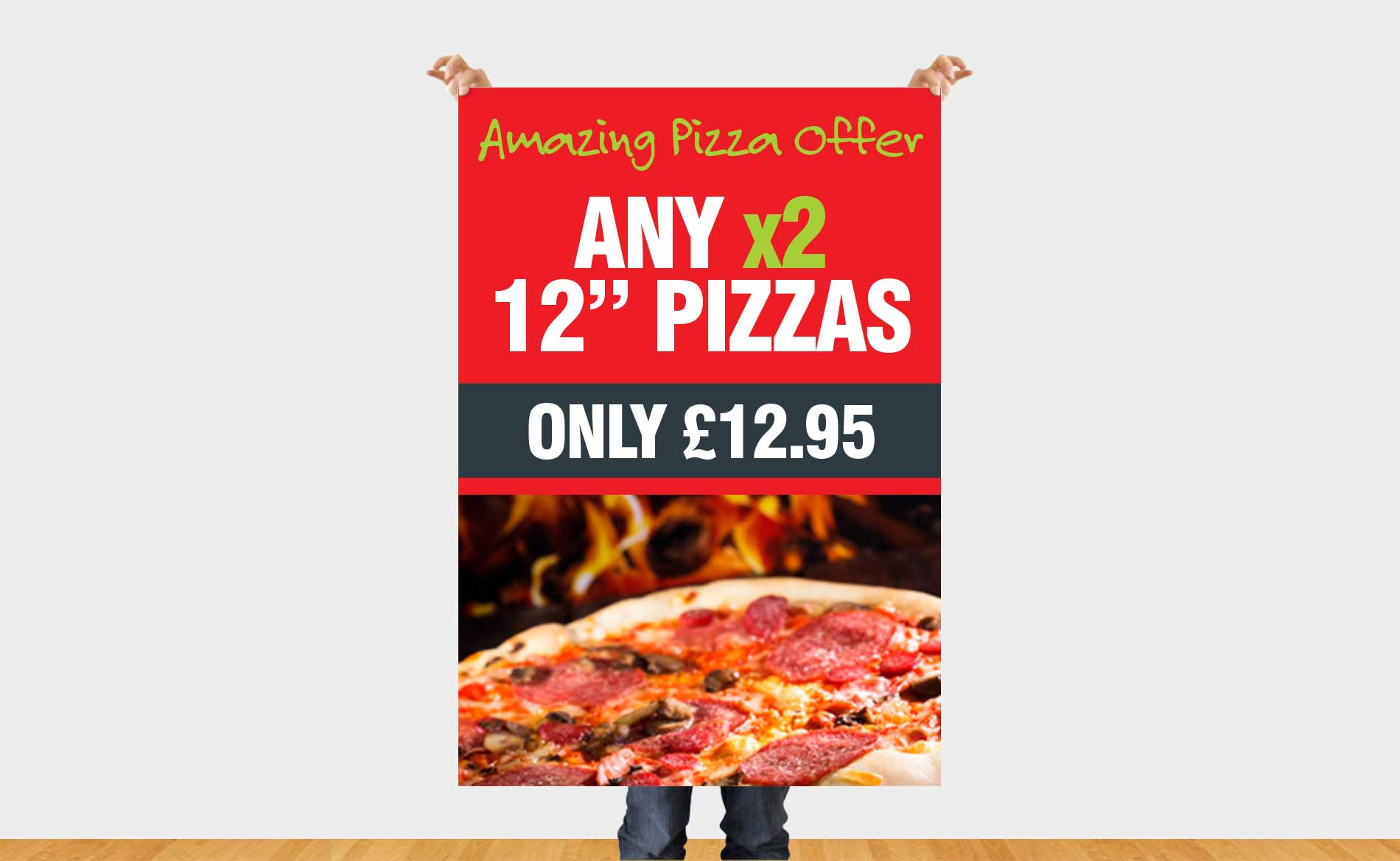 Large Format Print, Pizza Shop, Large Format Poster, Stoke-on-Trent, Staffordshire