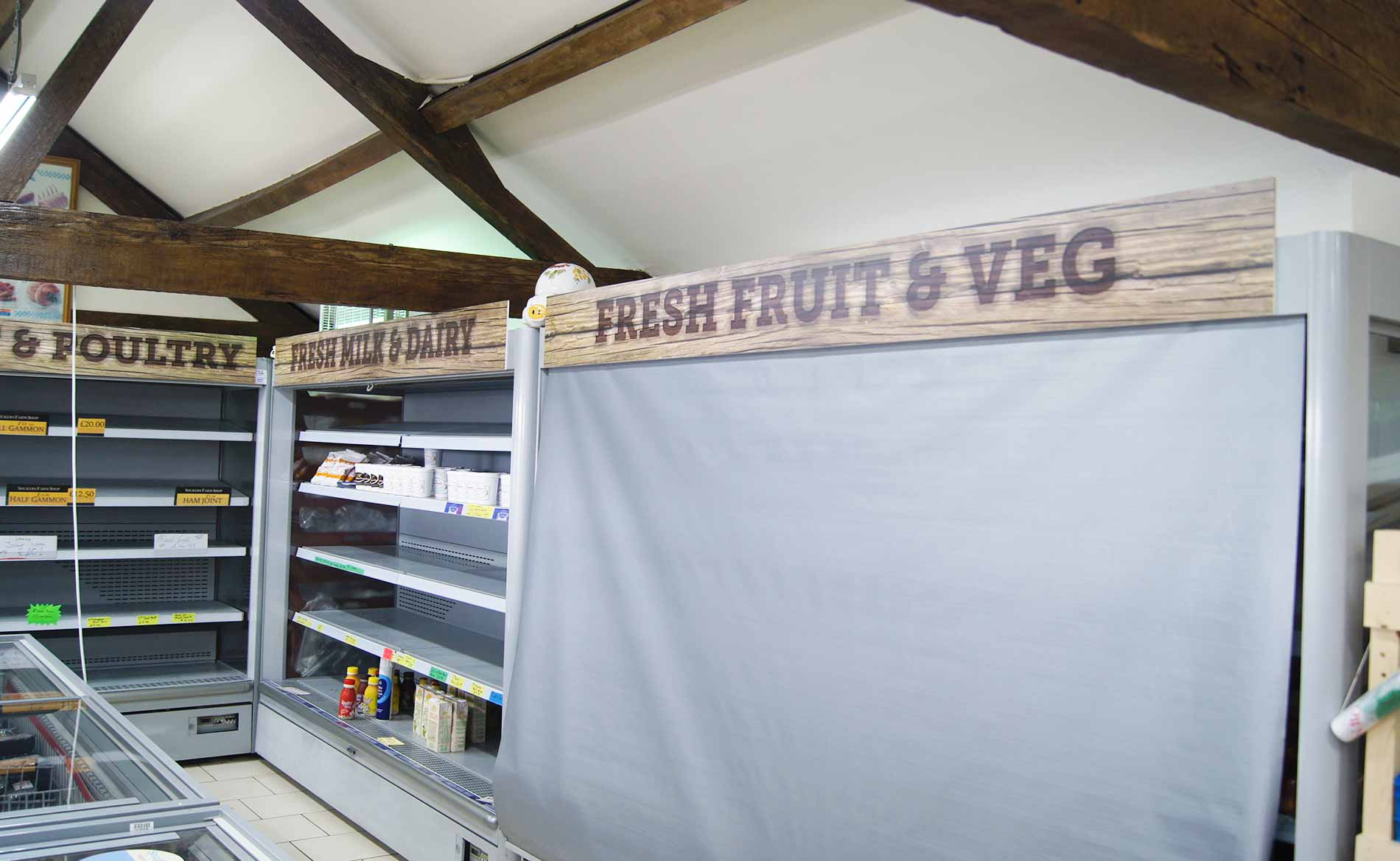 Signage, Shukers Farm Shop, Foamex/PVC Signs, Stoke-on-Trent, Staffordshire