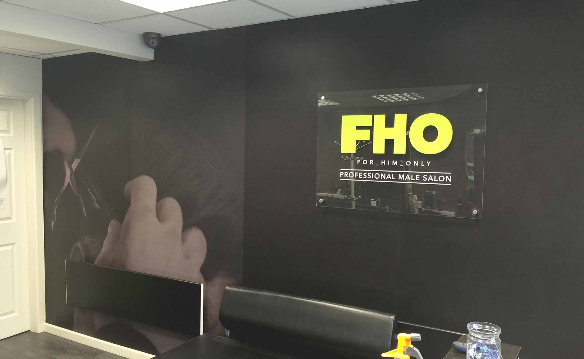 Wallpaper & Coverings, FHO Barbers Hanley, Signage, Stoke-on-Trent, Staffordshire
