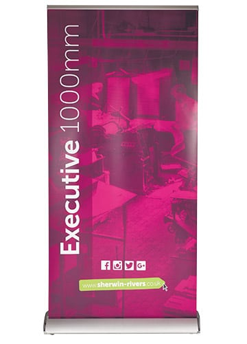 Large Format Print, Stoke-on-Trent, Staffordshire, 1000mm Wide Roller Pop-up Banner - Executive