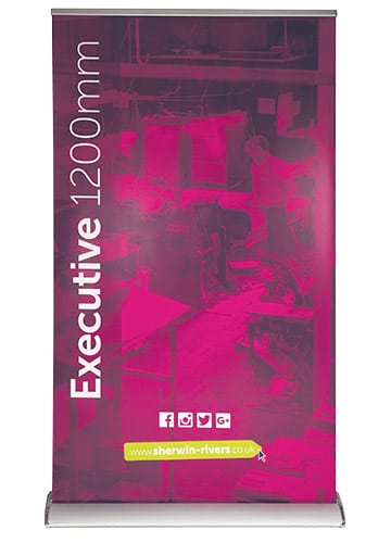 Large Format Print, Stoke-on-Trent, Staffordshire, 1200mm Wide Roller Pop-up Banner - Executive