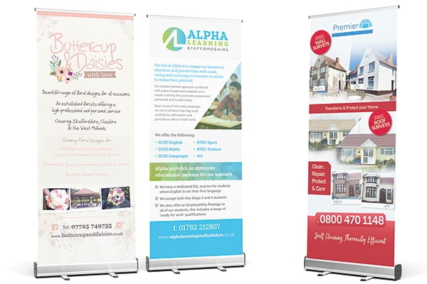 Large Format Print, Stoke-on-trent, Staffordshire, Pull-up Roller Banners