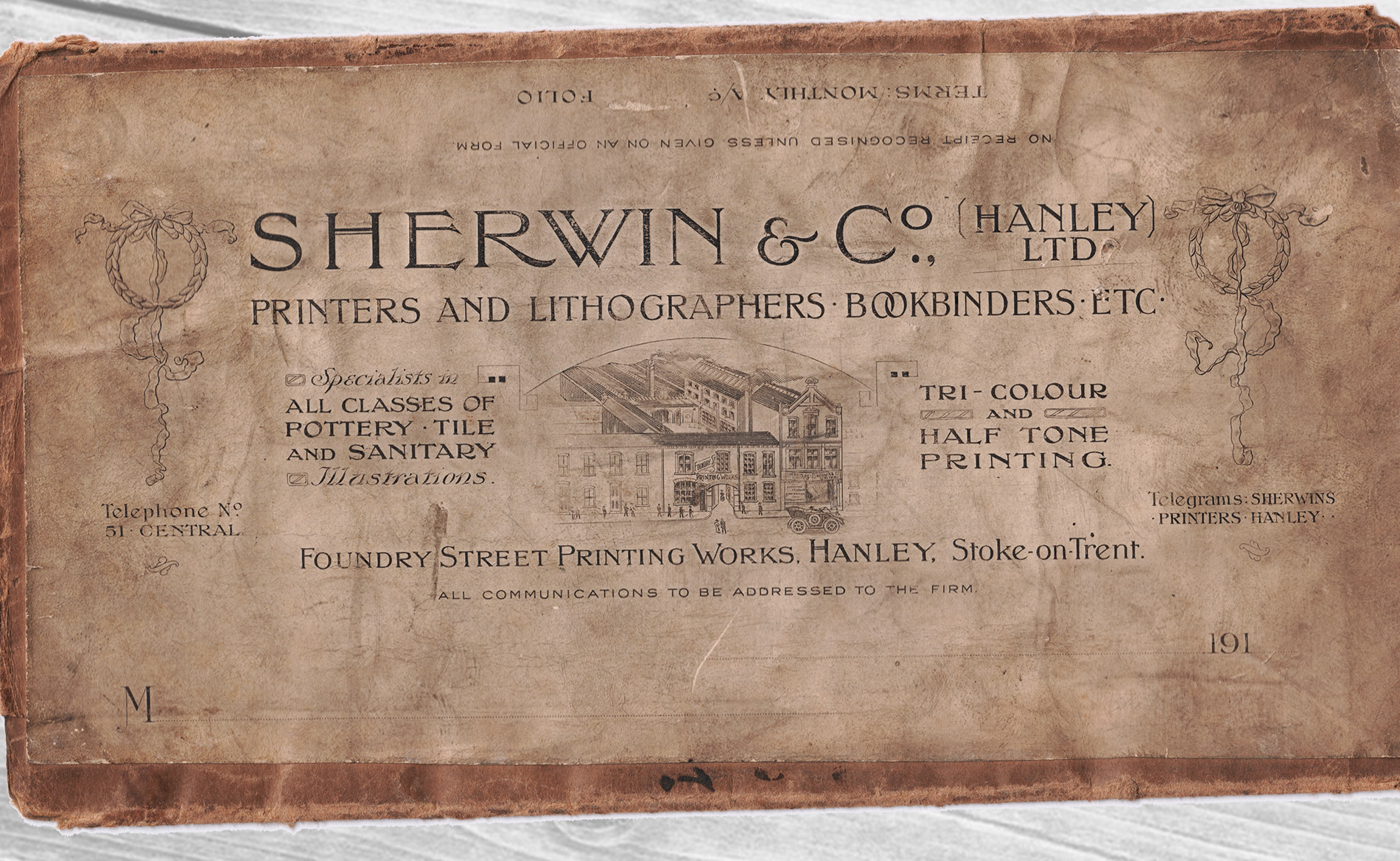 Sherwin Rivers Printers Ltd - Stoke-on-Trent, Staffordshire, Family run printing company for over a century - Sherwin & Co Packaging from the turn of the century
