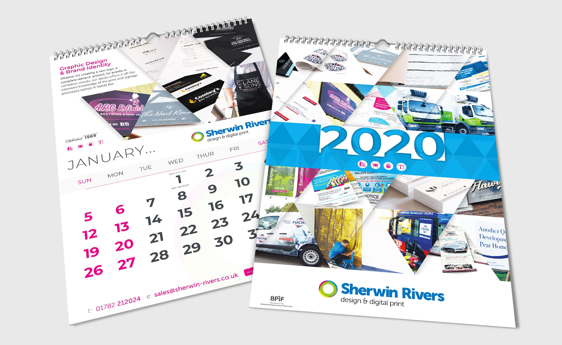 Sherwin Rivers Printers Ltd - Stoke-on-Trent, Staffordshire, 2020 Custom Business Calendar Printing